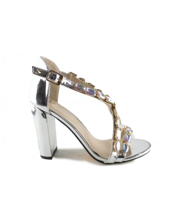 Sandales à talon Brune